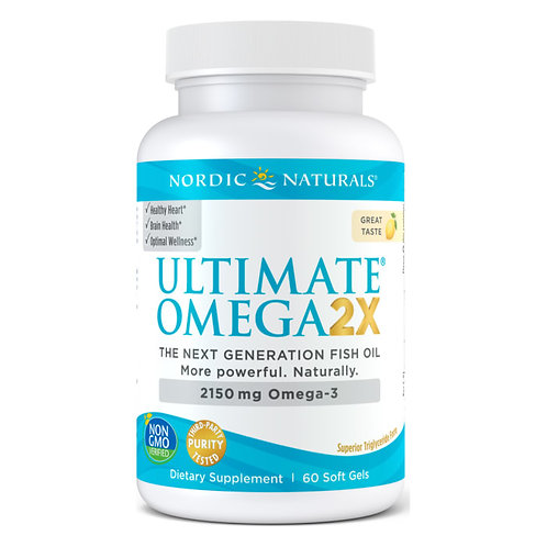 Nordic Naturals Ultimate Omega 2X 60 Soft Gels 30 Servings