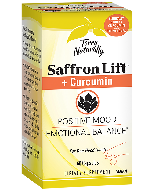 Terry Naturally Saffron Lift + Curcumin 60 Capsules