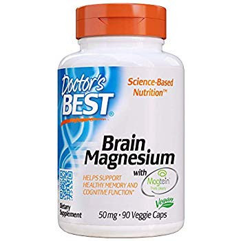 Doctor's Best Brain Magnesium 50mg 90 VegCaps 30 Servings
