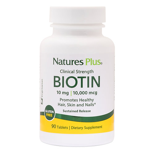 Natures Plus Clinical Strength Biotin 10mg 90 Tablets