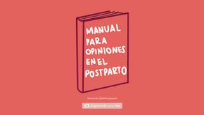 Manual para opiniones en el postparto