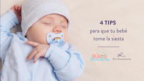 4 tips para que tu bebé tome la siesta