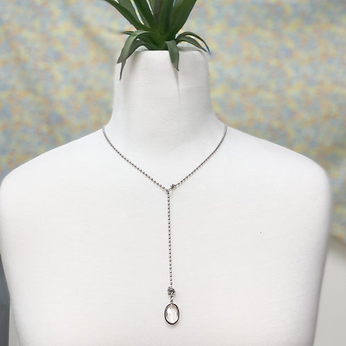 keeping it classy drop necklace