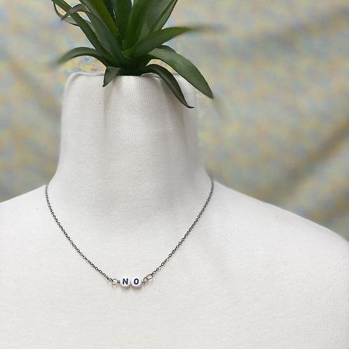 """""""no"""" necklace"""
