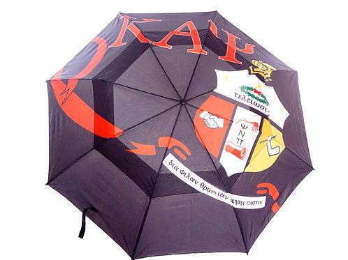 "Kappa 58"" Large Double Canopy Golf Umbrella (Black)"