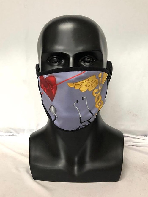 Medical Fashion Designed (Red Heart) Reusable Face Mask