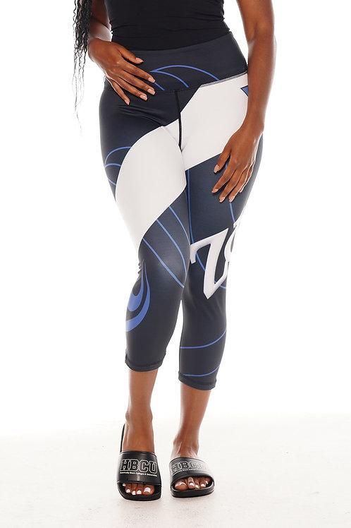 ZETA Women's Pro Sport Fitness Capri Tights (BLACK)
