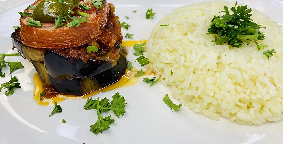 Vegetarian Mousakka Meal