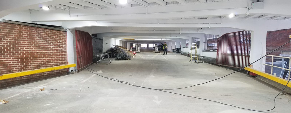 Paint spraying. Multi-Story Car Park, Leicester