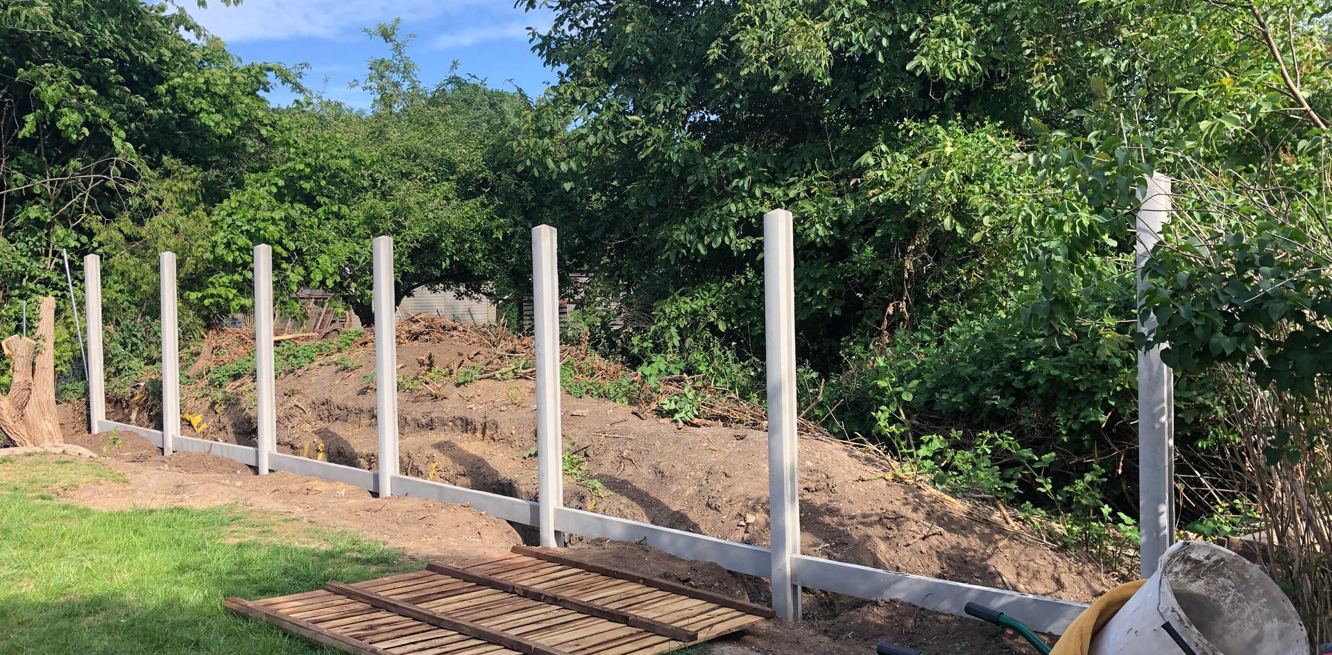 Concrete fence posts