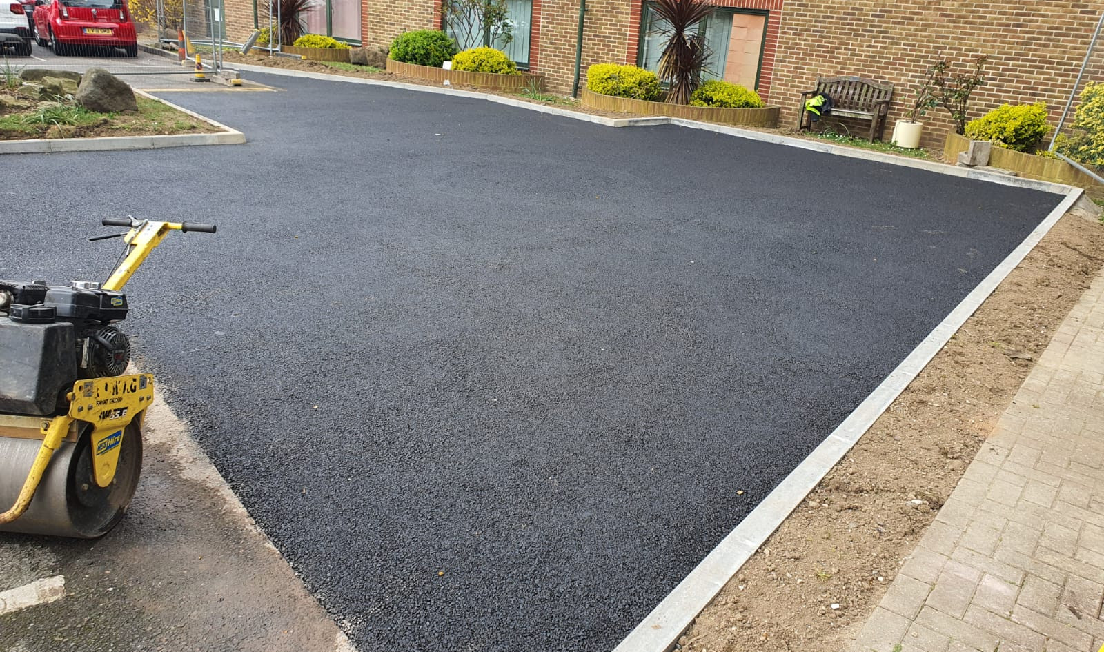 Tarmac progress. Car Park Extension, Croydon