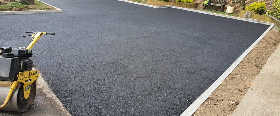 Tarmac progress. Car Park Extension,Croydon