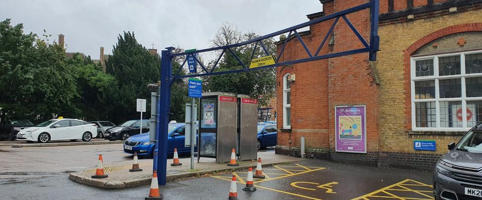 Height Restriction Gantry Installation, Letchworth Garden City