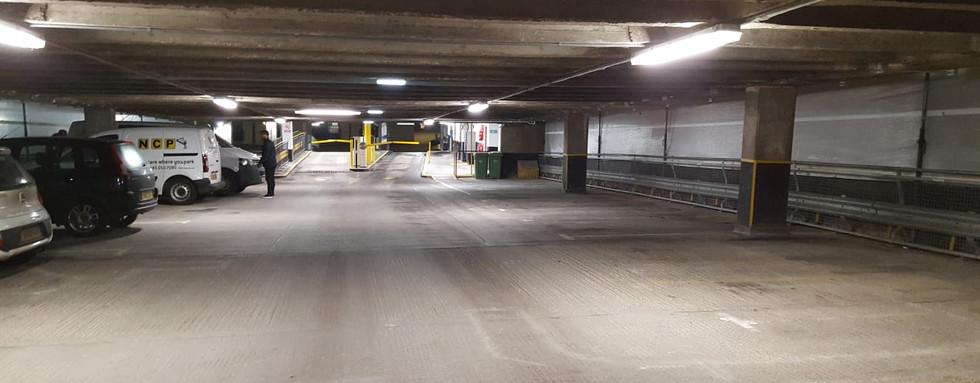 Paint spraying. Multi-Story Car Park, Nottingham