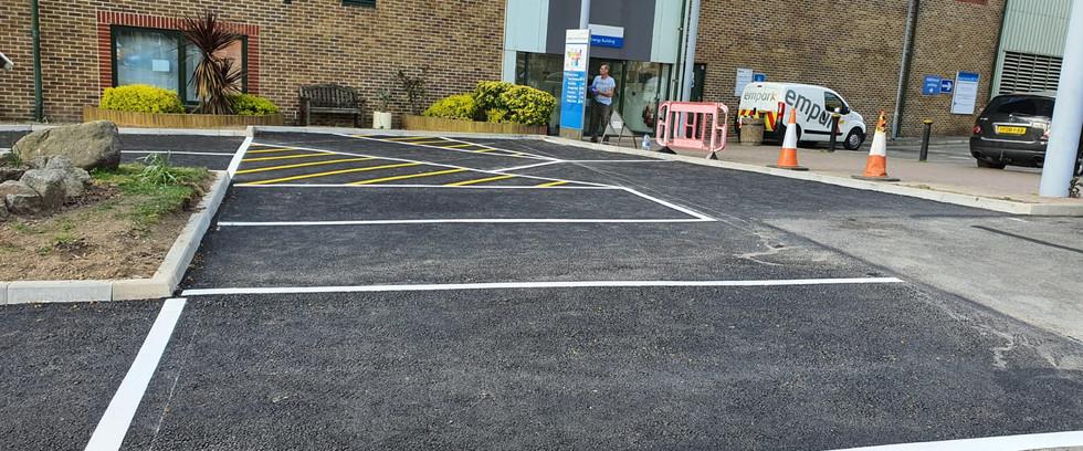 Additional car park bays. Car Park Extension,Croydon