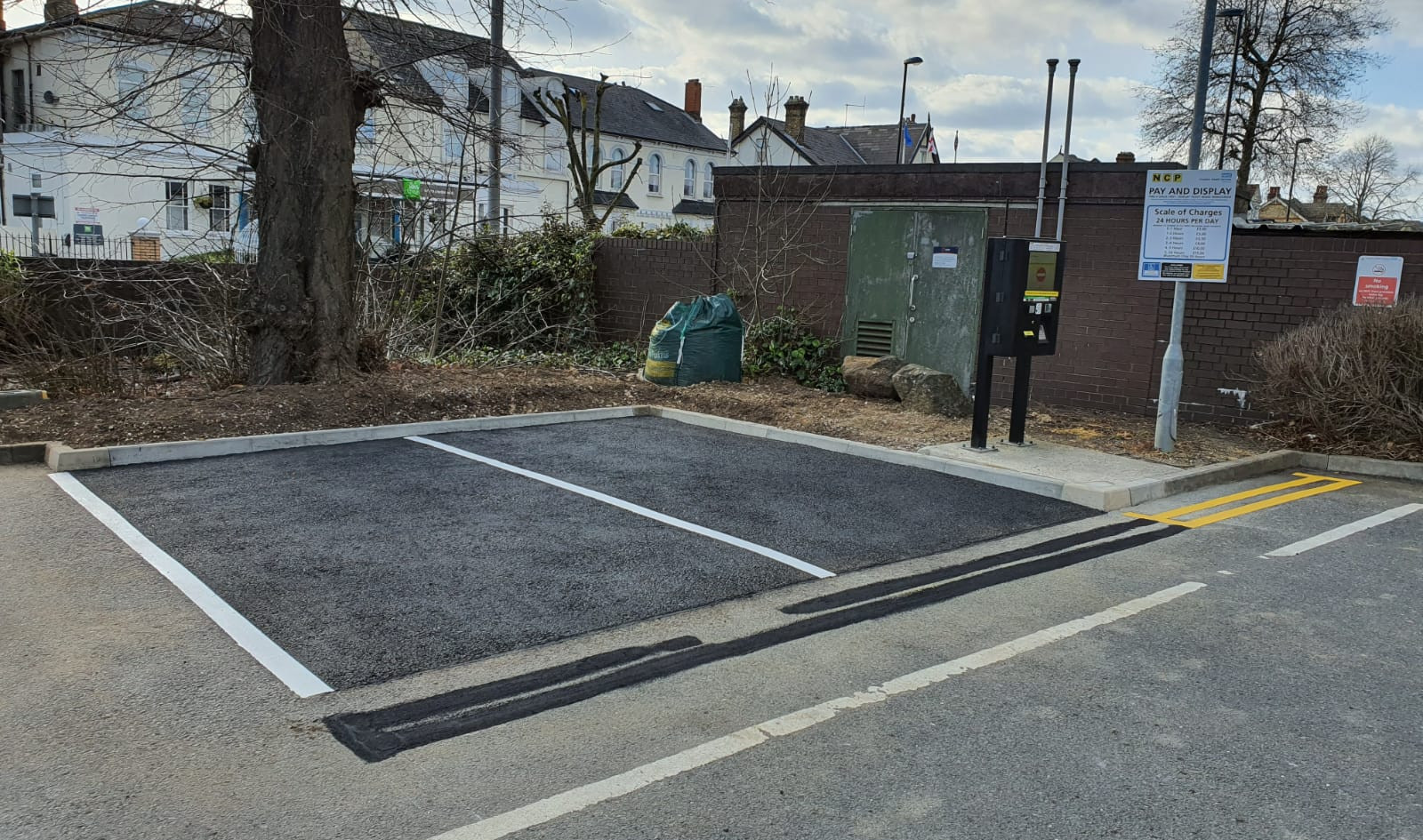 Additional parking bays. Car Park Extension, Croydon