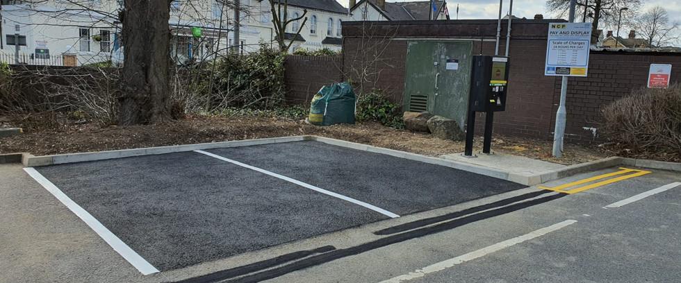 Additional parking bays. Car Park Extension,Croydon
