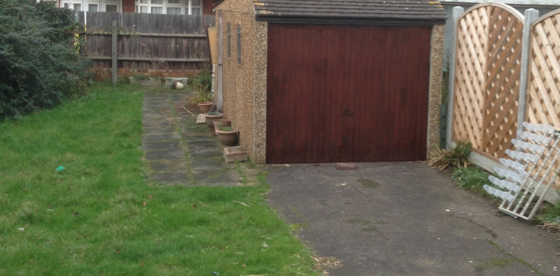 Garden driveway and patio slabs