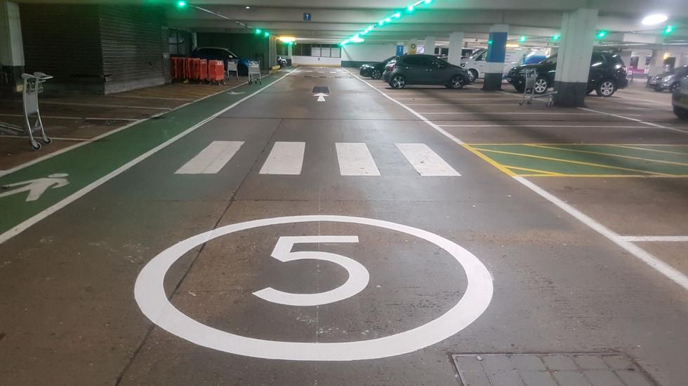 MMA 5 mph floor markings