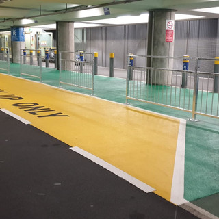 Pedestrian Guard Rail, Heathrow