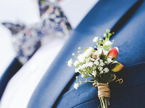 FLEURS MARIÉS + TÉMOINS // Parfaite harmonie entre mariés et témoins