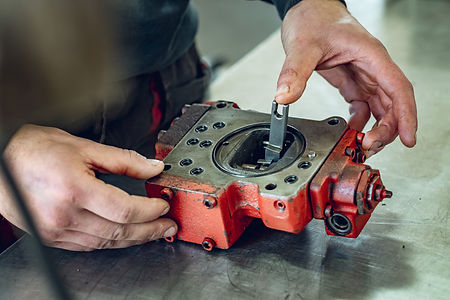 Repair of the hydraulic pump in a profes