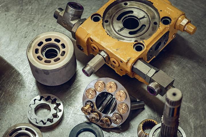 Mechanical workshop, hydraulic parts in