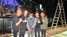 Young Fan Gets To Jam At Airbourne Soundcheck!