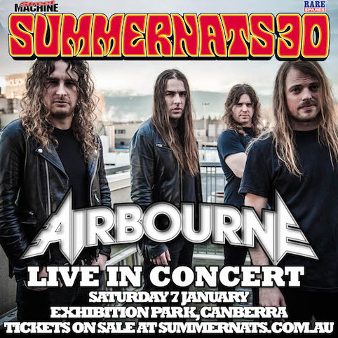 Airbourne Announced For Home Country Show To Kick Off 2017!