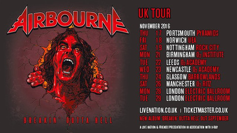 Airbourne Announce UK Tour in November 2016!