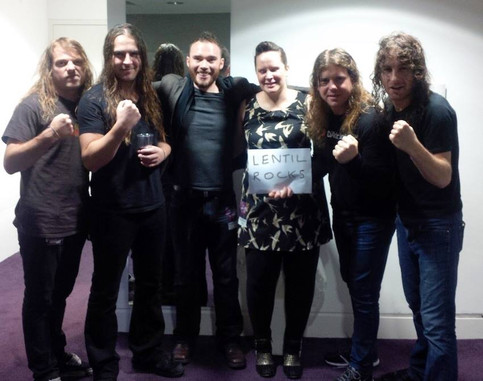 Airbourne Show Support For Lentil Rocks!