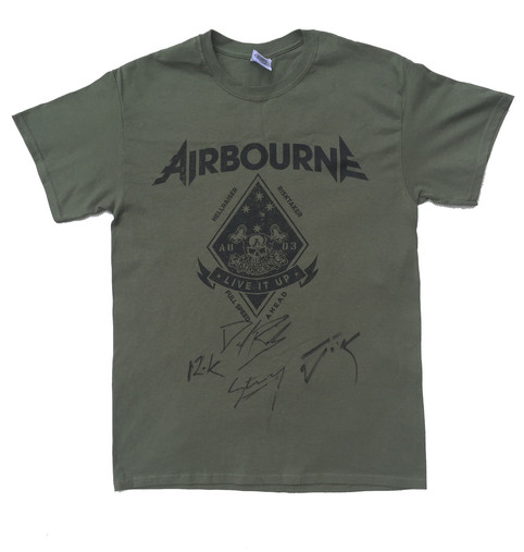 Signed Airbourne T-shirt In Charity Auction For Lentil Rocks!