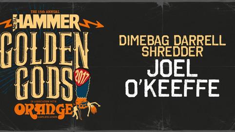 Airbourne's Joel O'Keeffe Wins Metal Hammer's Golden Gods Dimebag Darrell Shredder 2017 Awar