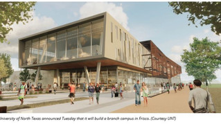 University of North Texas will build first permanent branch campus in Frisco; construction to start