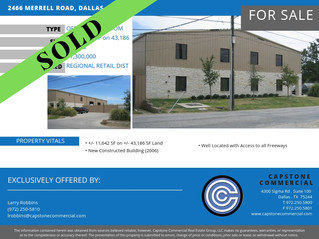 SOLD - 2466 Merrell Road, Dallas