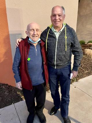 Larry Robbins with his good friend Max Glauben.