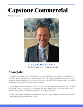 Announcement - John Morgan