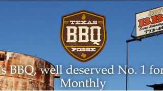 Snow's BBQ, well deserved No. 1 for Texas Monthly.
