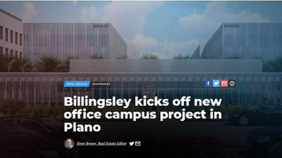 Billingsley kicks off new office campus project in Plano