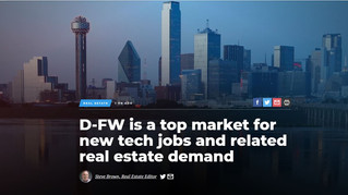 D-FW is a top market for new tech jobs and related real estate demand