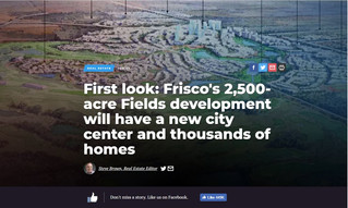 First look: Frisco's 2,500-acre Fields development will have a new city center and thousands of