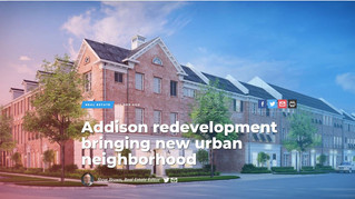 Addison redevelopment bringing new urban neighborhood