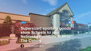 Supersized sporting goods store Scheels to join Nebraska Furniture Mart in The Colony