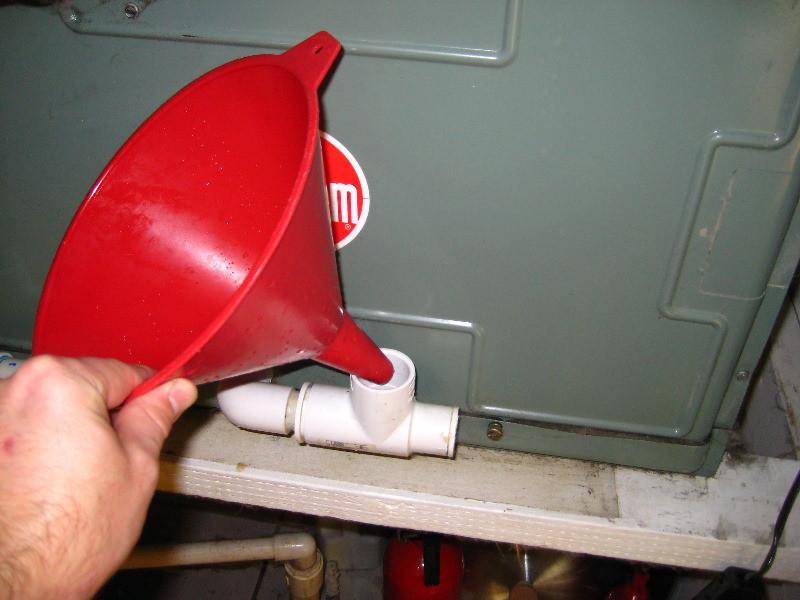 clean ac drain line bleach vs vinegar