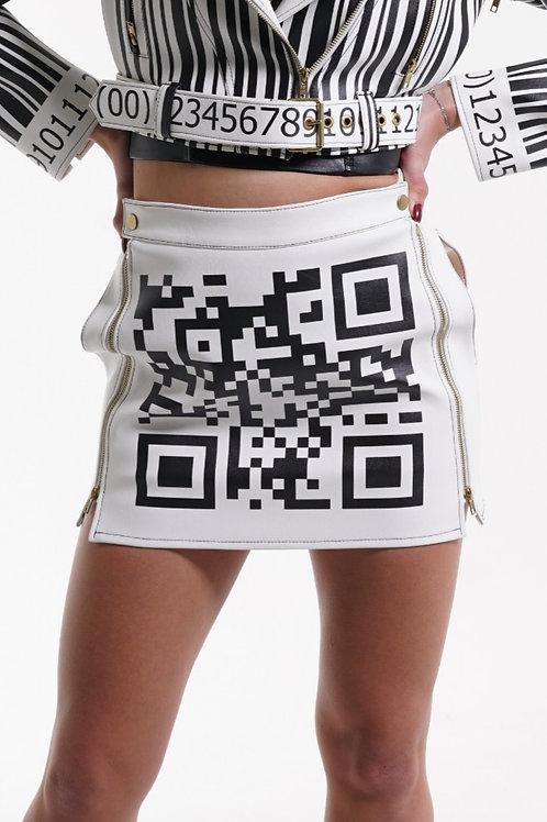 """Scan Me"" Mini Skirt"