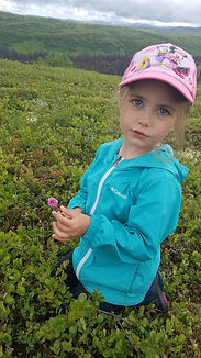 Children having a great time in nature at Cribou Lodge Alaska