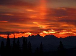 Sunset Over the Alaska Range