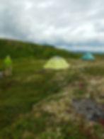 tents set up in Alaska wilderness