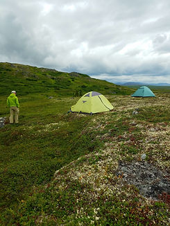 tents set up in Alaska wilderness