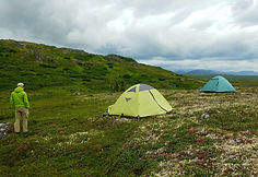 Camping in The Talkeetna Mountains. Caribou Lodge is located near Denali Park and Talkeetna, Wilderness Adventure, Alaska Wilderness Lodge Near Denai